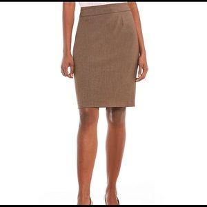 Calvin Klein Pencil Skirt Camel Size 2